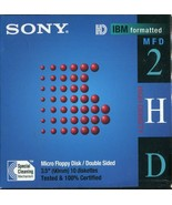 """Sony Micro Floppy Disk 10MFD-2HD 3.5"""" Double Sided Formatted 10 Pack Min... - $6.23"""
