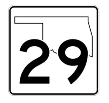 Oklahoma State Highway 29 Sticker Decal R5584 Highway Route Sign - $1.45+