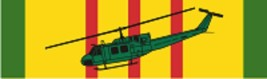 """Vietnam – UH-1H (Color) Decal 6"""" Wide x 1.77"""" High - $11.87"""