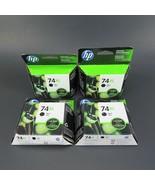 Genuine HP 74XL Lot of 4 Black Ink Cartridges CB336WN Sealed Apr 2017 - $100.00