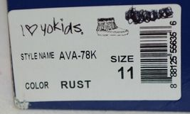 I Love Yo Kids AVA 78K Girls Fringe Boot Rust Silver Studded Size 11 image 9