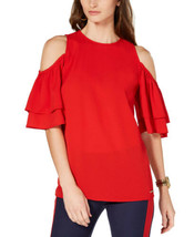 Michael Kors Ruffled Cold-Shoulder Top, In Regular & Petite Sizes - $59.39