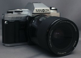 MINOLTA X-370 35mm VINTAGE SLR Film Camera MC F3.8 28-80mm Lens Very CLEAN! - $66.60
