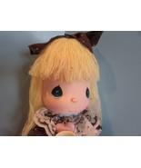 Precious Moments GREAT BRITIAN Doll the worlds children  YELLOW yarn  Ha... - $31.68