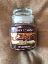 YANKEE CANDLE APPLE CIDER 3.7 OZ JAR AND TARTS - $8.90