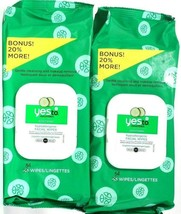 2 Packs Yes To Cucumbers Soothing Aloe Vera 54 Count Hypoallergenic Facial Wipes - $23.99