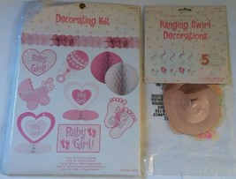 Amscan Decorating Kit Baby Shower Girl Pink Decorations Pack & 10 Pieces - $9.04