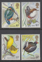 1980 Wild Birds Set of 4 Great Britain Postage Stamps Catalog 884-87 MNH
