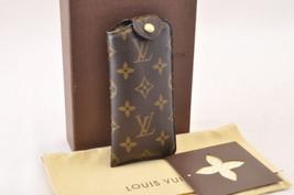 Louis Vuitton Monogram Etui A Lunettes Pm Glasses Case M66545 Lv Auth 7735 - $420.00