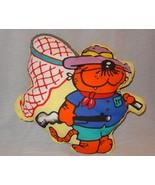 "Healthcliff Cat Panel Pillow Finished Plush Stuffed Animal 15"" 1982 - $24.99"