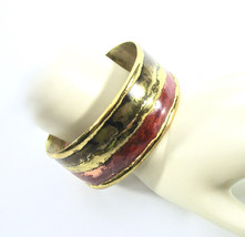 Brutalist Cuff Bracelet, Mixed Metals, Handcrafted, Modernist Design, Industrial - $35.00