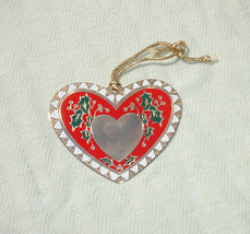 Vintage Heart Shaped Engravable Ornament - $6.99