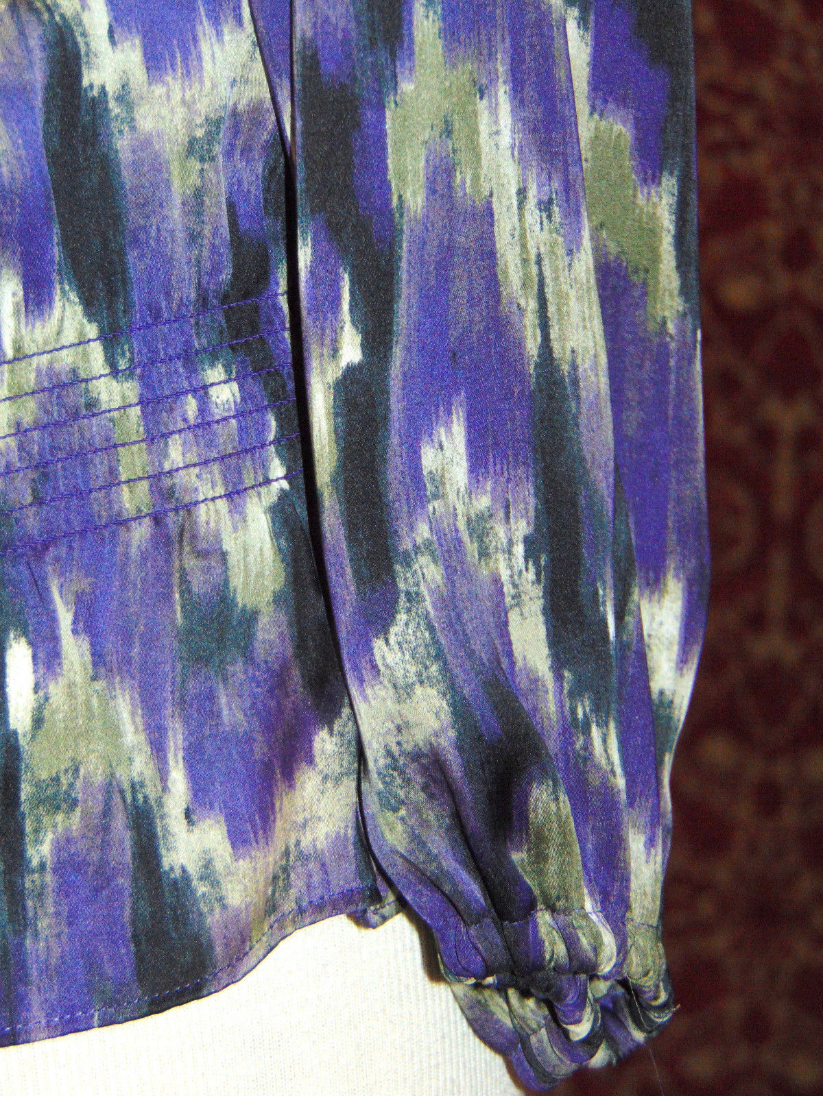 MICHAEL KORS purple polyester long sleeve blouse M (T47-01C8G) image 6