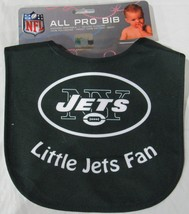 NFL NWT INFANT ALL PRO BABY BIB - GREEN  - NEW YORK JETS - LITTLE JETS FAN - €8,45 EUR