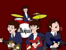The Beatles cartoon Art  B1 - $25.00
