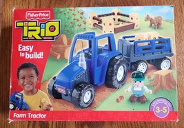 Trio Farm Tractor 28 Pc Building Set 2009 Fisher Price T2722 Complete Unplayed - $25.00