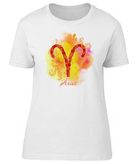 Watercolor Paisley Zodiac Aries Women's Tee -Image by Shutterstock - $9.89+