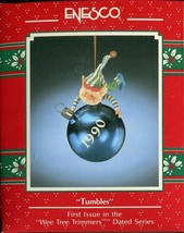 1990 New in Box - Enesco Christmas Ornament - Tumbles - #566519 - $19.79