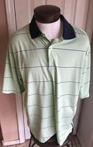 Footjoy Green Striped Short Sleeve Polo Men's XL - $22.72