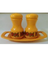 Vintage Emsa Salt and Pepper Shakers with Tray  from W. Germany - $24.48 CAD