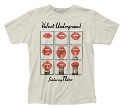 Velvet Underground Featuring Nico Lips Ivory T-Shirt Licensed Band Tee S... - $22.00