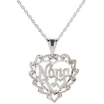 "Sterling Silver Nana Heart Pendant Necklace, 18"" - $28.99"