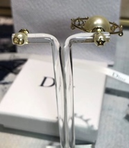 """Authentic Christian Dior """"DIOR TRIBALES"""" Earrings Gold Crystal Star Wasp Charms  image 10"""