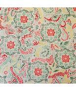 3+Yd Waverly Inspirations Pink Green Yellow Disk Medallion Paisley Suzani Fabric - $34.99