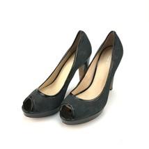 Coach black Breana peep toe jaquard heels size 10 B - $39.59