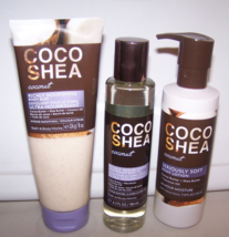 3 Pc Bath & Body Works Coco Shea Coconut Set- Body Oil, Body Lotion & Bo... - $25.99