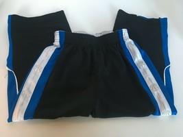 Nike Basketball Pants Boys Size 4 Black Blue White Sports Close Snaps at... - $9.34