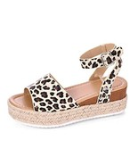 Women\\\'s Platform Sandals Espadrille Wedge Ankle Strap Studded Open To... - $24.95