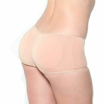 NEW WOMEN'S FULLNESS BUTT BOOSTER LIFTER SUPPORT SHAPER PANTY BEIGE #7013