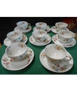 Beautiful CH.FIELD Haviland Limoges GDA France-Set 8 CUPS & SAUCERS-2 Cl... - $80.10