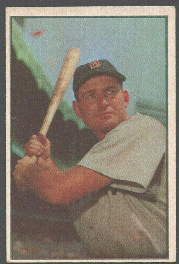 Primary image for Boston Red Sox George Kell 1953 Bowman Color Baseball Card 61 vg/ex