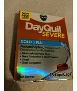 DayQuil Severe Max Strength Cold & Flu Relief 16 Liquicaps Exp 05/20 - $9.85