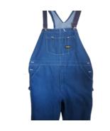 TOUGHSKINS Vtg Sears Denim Overalls Bib Coveralls Blue Jean Carpenter Wo... - $48.51