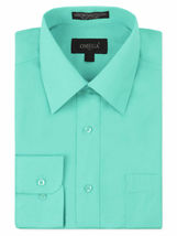 NEW Omega Italy Men's Dress Shirt Long Sleeve Solid Color Regular Fit 15 Colors image 7