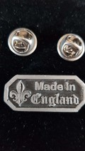 made in england double pin badge lapel Badge / tie pin, Lapel Pin Badge, boxed