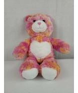 2010 BABW Endless Hugs Build A Bear Tie Dye Pink Orange Yellow Plush Heart - $12.00