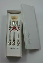 "Eloquence by Lunt Sterling Silver ""I Love You"" Serving Set 3pc Custom Made Gift - $195.00"