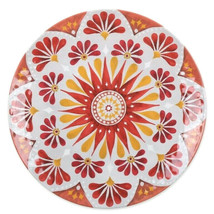"Gypsy Grapefruit Set of 6 Melamine Dishes Plates Dinner 10.5"" Summer Bea... - $42.66"