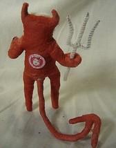 Vintage Inspired Spun Cotton Devil Boy Ornament Halloween!No. 227 image 2