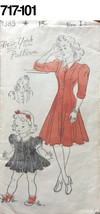 Vintage Sewing Pattern New York # 1385 1940s Girls/Womens  Dress Complete - $15.02