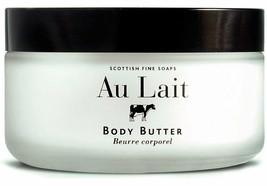 Scottish Fine Soaps Au Lait Body Butter 200mL 7oz Glass Jar, new - $16.39