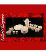 Sango 20pc Garland 8837 Flat Cups Saucers Salt & Pepper Shakers Tea Pot ... - $71.27