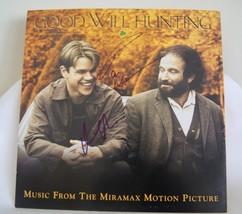 Good Will Hunting Matt Damon, Robin Williams Autoghaped Display Card. Wi... - $230.99