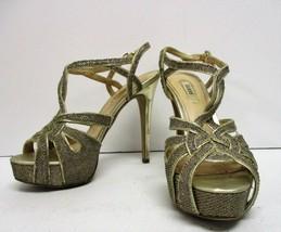 Guess Women's Krestina Gold Shimmer High Heels - Size 6½ - $21.66