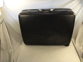 Vintage American Tourister Hard Shell Suitcase w/ combinationlock Black / Gray - $19.80