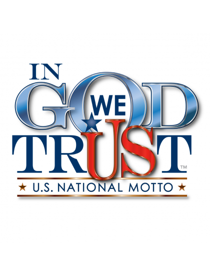 IN GOD WE TRUST CLEAR VINYL REMOVABLE WINDOW STICKER